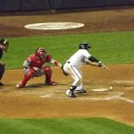 Norichika Aoki layed down a perfect suicide squeeze.