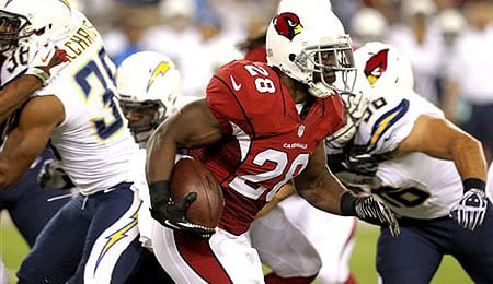 Rashard Mendenhall is finally healthy for the Arizona Cardinals.