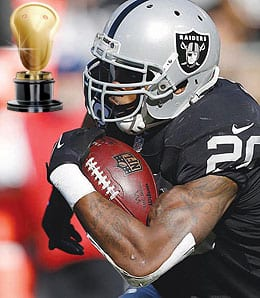 Darren McFadden once again teased his owners for the Oakland Raiders.