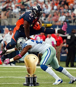 Knowshon Moreno was Pro Bowl worthy for the Denver Nuggets.