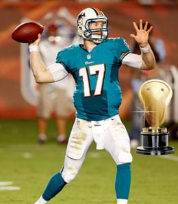 Ryan Tannehill isn't getting any Fantasy respect for the Miami Dolphins.