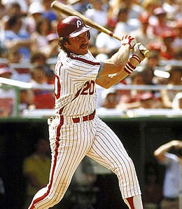 Mike Schmidt was once the top slugger in the game for the Philadelphia Phillies.