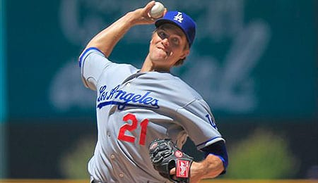 Zack Greinke took off in the second half for the Los Angeles Dodgers.