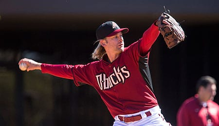 Bronson Arroyo is dealing with a back woe for the Arizona Diamondbacks.