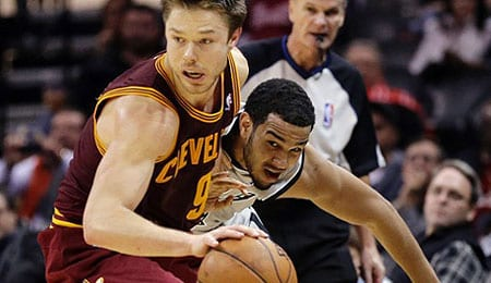Matthew Dellavedova of the Cleveland Cavaliers is providing tough to guard.