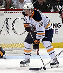 Zemgus Girgensons has played well lately for the Buffalo Sabres.