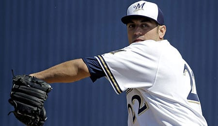 Matt Garza is hurting for the Milwaukee Brewers.