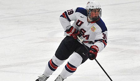 Dylan Larkin is one of the top American prospects in the 2014 NHL Draft.