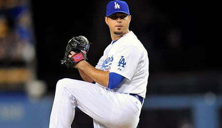 Josh Beckett has been lights out for the Los Angeles Dodgers.