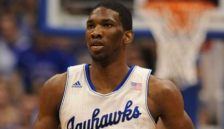 The Philadelphia 76ers took Joel Embiid third overall.