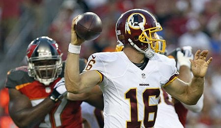 Colt McCoy has emerged as a factor for the Washington Redskins.