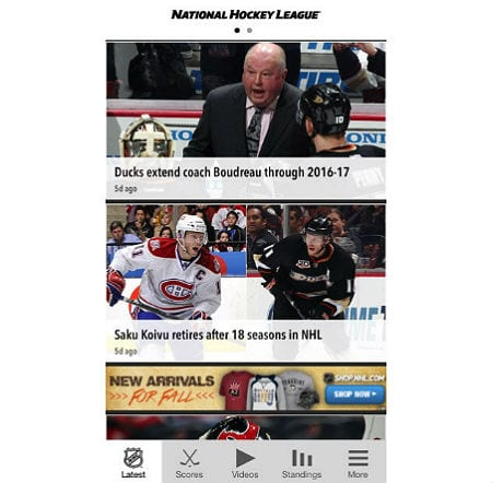 NHL Gamecenter Live 2014-15 App