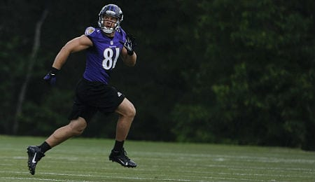 Owen Daniels has been productive for the Baltimore Ravens.