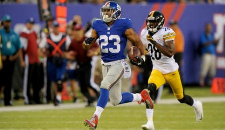 Rashad Jennings is dealing with a knee injury for the New York Giants.