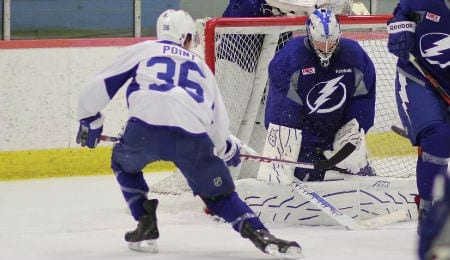 Andrei Vasilevskiy, Tampa Bay Lighting's first round pick from 2012, has arrived.