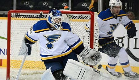 Martin Brodeur, the all-time leader in wins, now toils for the St. Louis Blues.