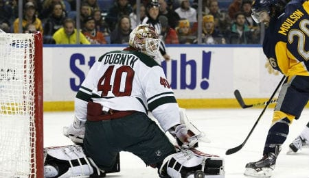 Devan Dubnyk is helping turn things around for the Minnesota Wild.