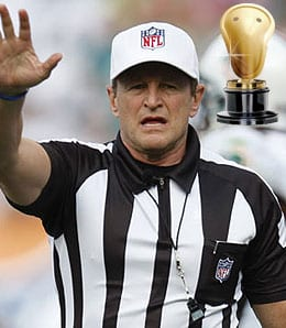 Ed Hochuli got confused about where the Raiders hail from.
