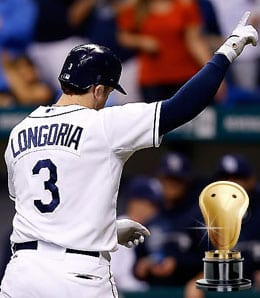 Evan Longoria saved a reporter for the Tampa Bay Rays.