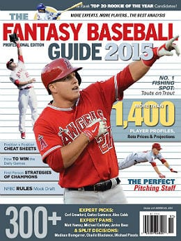 2015 Fantasy Baseball Guide Professional Edition