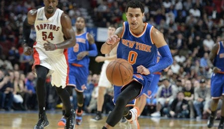 Shane Larkin has been chipping in for the New York Knicks.