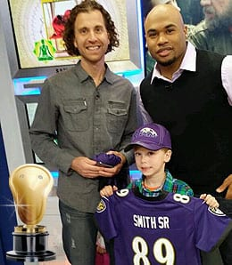 Steve Smith won new fans for the Baltimore Ravens.
