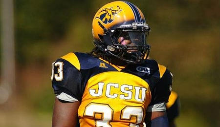 Jovontay Williams is hoping to get drafted out of the Johnson C. Smith Golden Bulls.