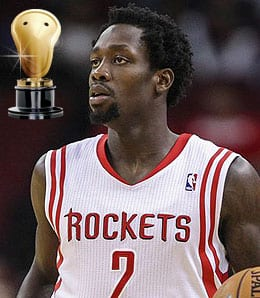 Patrick Beverley put on a dunk show for the Houston Rockets.