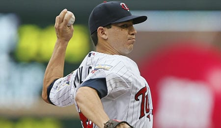 Tommy Milone is trying to stick in the rotation for the Minnesota Twins.