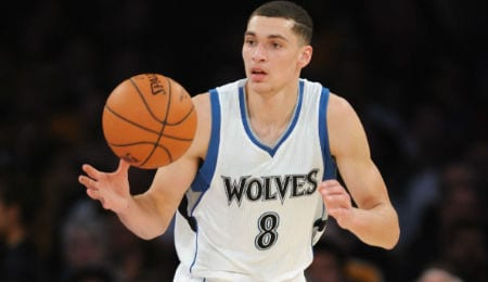 Zach LaVine is flashing some creative moves for the Minnesota Timberwolves.