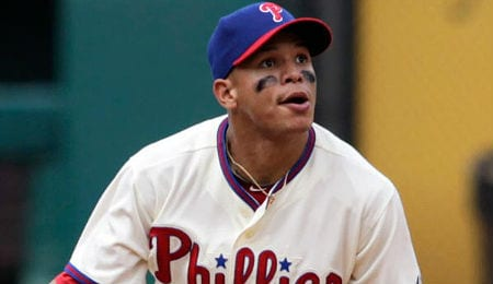 Cesar Hernandez keeps hitting for the Philadelphia Phillies.