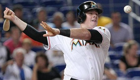 Justin Bour is becoming a feared hitter for the Miami Marlins.