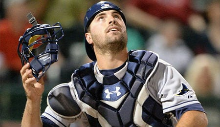 Curt Casali is bashing long balls for the Tampa Bay Rays.