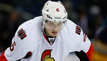 Bobby Ryan is battling an injury for the Ottawa Senators.