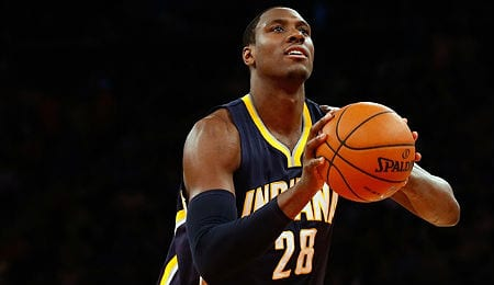 Ian Mahinmi is being a beast for the Indianapolis Pacers.