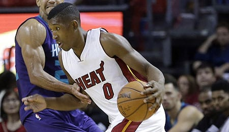 Josh Richardson is shooting the lights out for the Miami Heat.