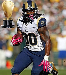 Todd Gurley emerged as one of the best running backs in the league for the St. Louis Rams.