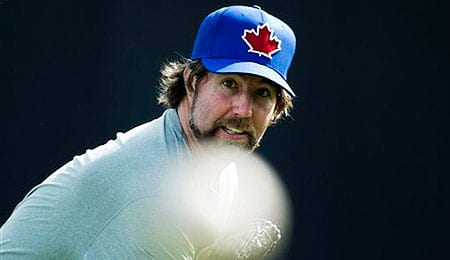 R.A. Dickey is one of the best knuckleballers in the game for the Toronto Blue Jays.