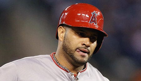 Albert Pujols continues to blaze for the Los Angeles Angels.