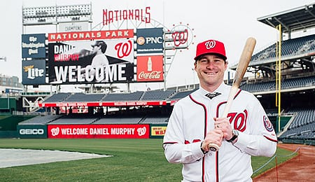 Daniel Murphy has become the top hitter on the Washington Nationals.