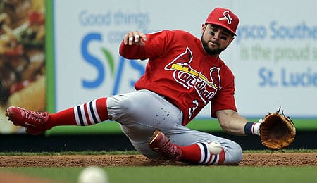 Greg Garcia is doing it all for the St. Louis Cardinals.