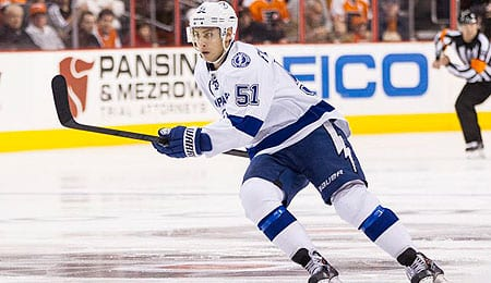 Valtteri Filppula is putting up points for the Tampa Bay Lightning.