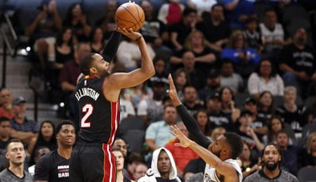 Wayne Ellington is seeing plenty of PT for the Miami Heat.