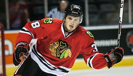 Ryan Hartman has moved to the top line for the Chicago Blackhawks.