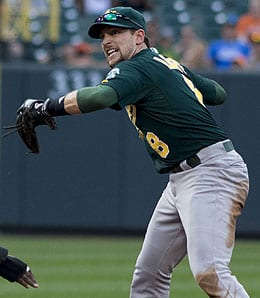 Jed Lowrie has been swinging a hot bat for the Oakland Athletics.