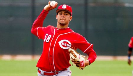 Luis Castillo looked solid in his debut for the Cincinnati Reds.
