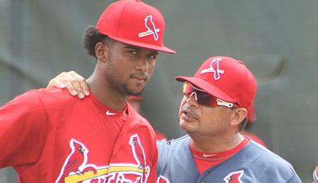 Sandy Alcantara could soon force his way up to the St. Louis Cardinals.