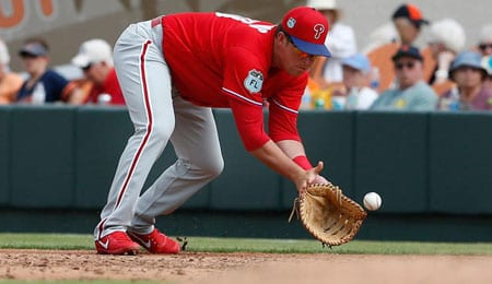 Rhys Hoskins has been promoted by the Philadelphia Phillies.