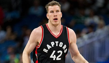 Jakob Poeltl is racking up the blocks for the Toronto Raptors.