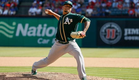 Frankie Montas is looking sharp in the minors for the Oakland Athletics.